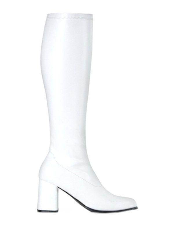 Dames Go Go Boots-Wit
