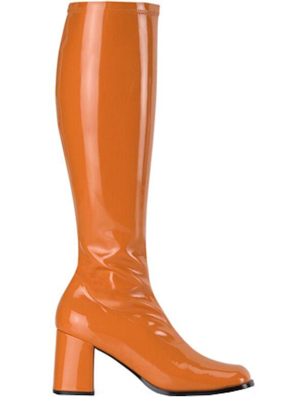 Vrouwen Go-Go Laarzen - Oranje Vrouw