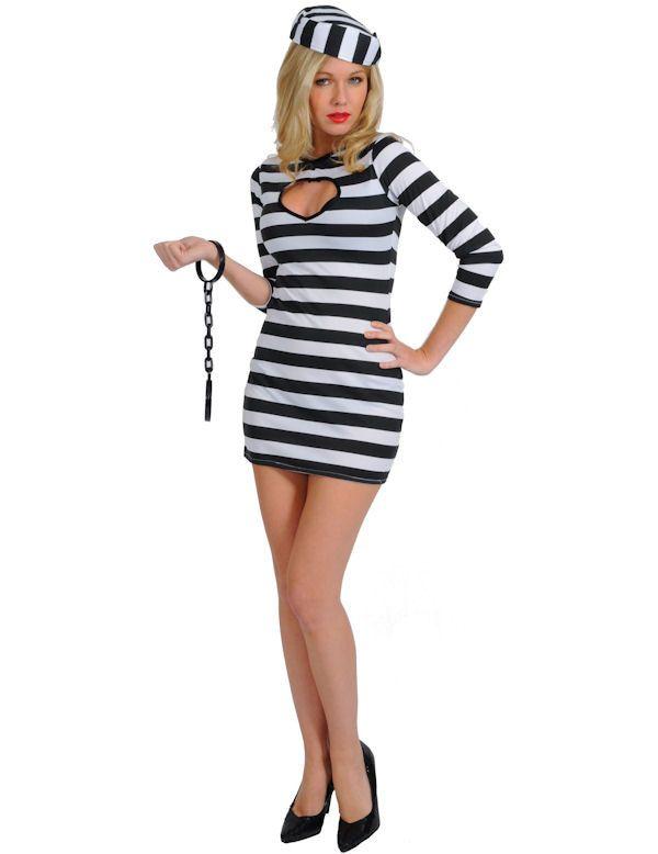 Sexy Gevangene Vrouw Kostuum