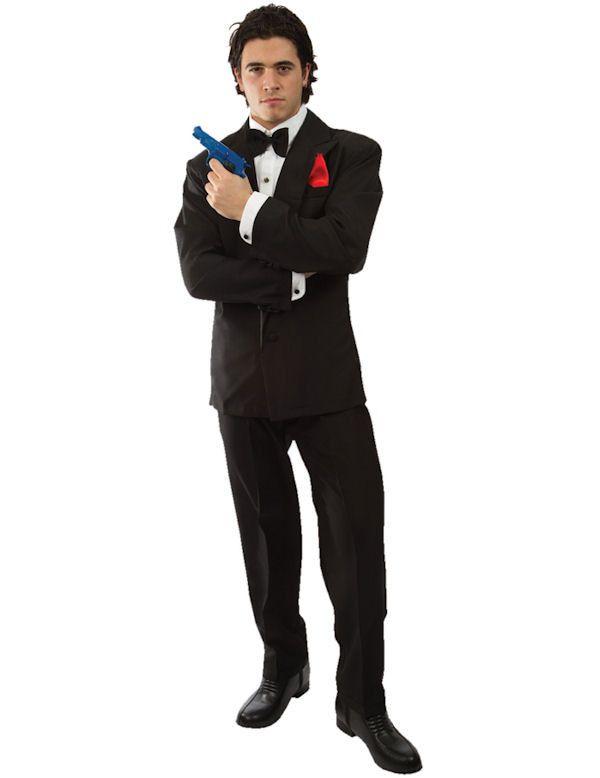 Geheim Agent Kostuum James Bond Man