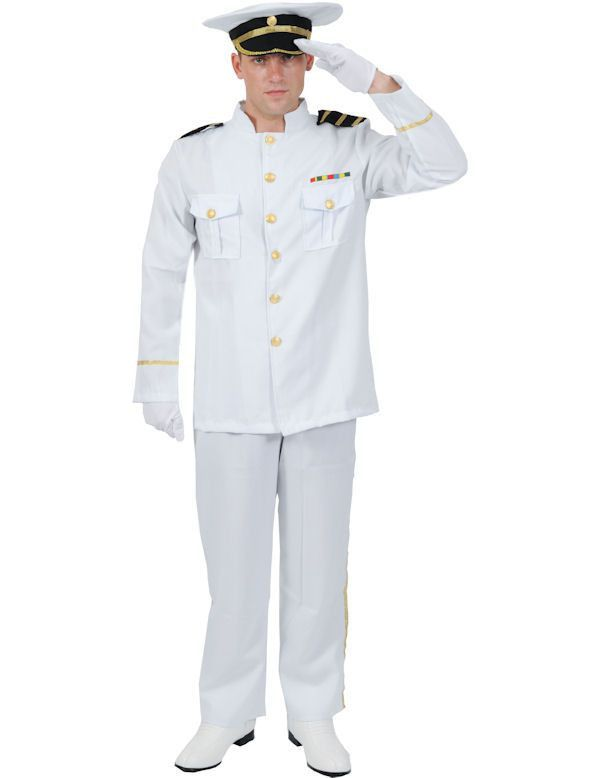 Officier In De Marine Man Kostuum