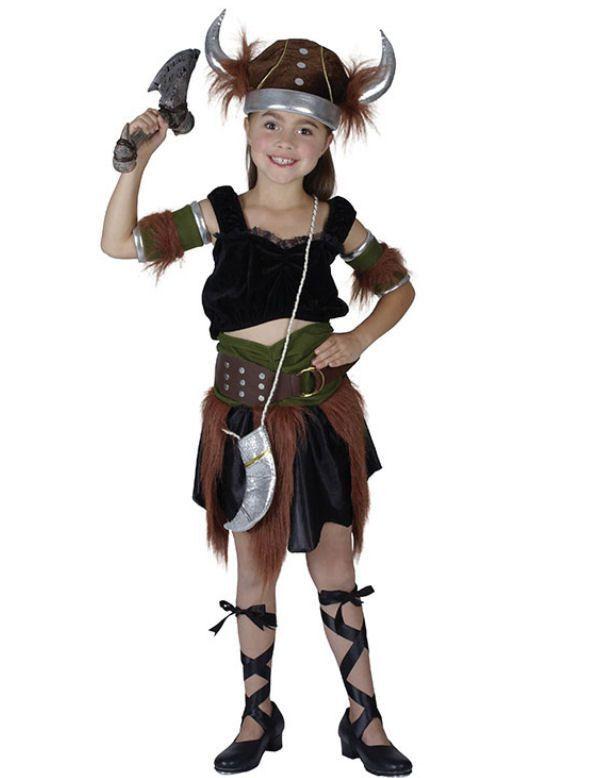 Klassiek Viking Meisje Kostuum