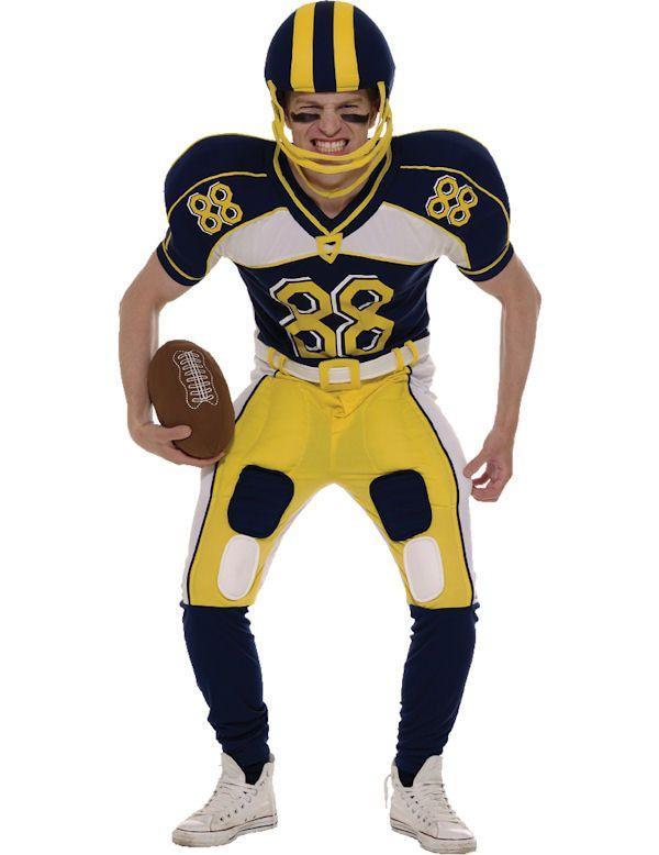 American Football Speler Kostuum (Inclusief Helm En Bal) Man