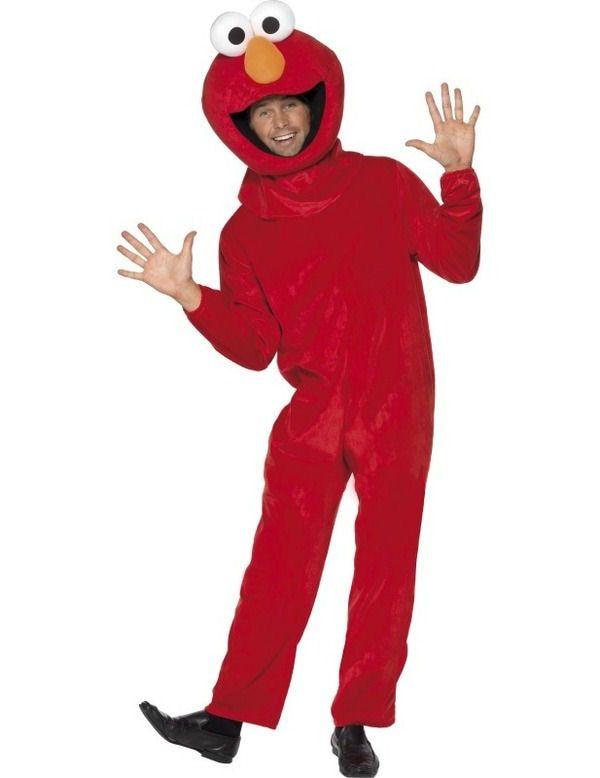Officieel Elmo Volwassen Kostuum