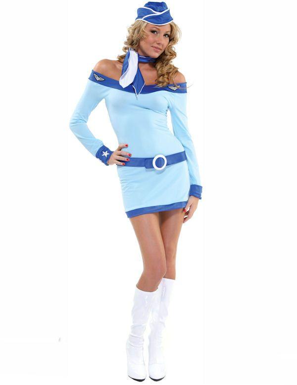 Sexy Stewardess Vrouw Kostuum