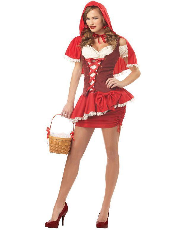 Roodkapje Spannende Vrouw Kostuum