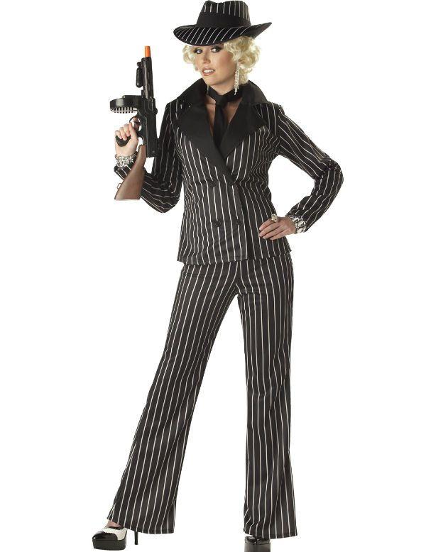 Gangster Dame Vrouw Kostuum
