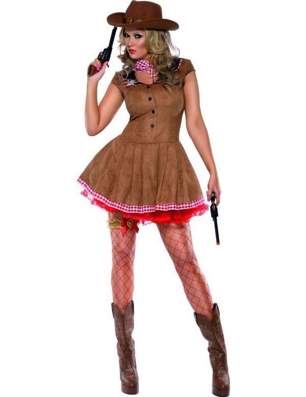 Sexy Wilde Westen Cowgirl Vrouw Kostuum