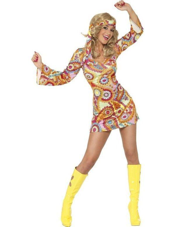 Jaren 60 Hippie Vrouw Kostuum