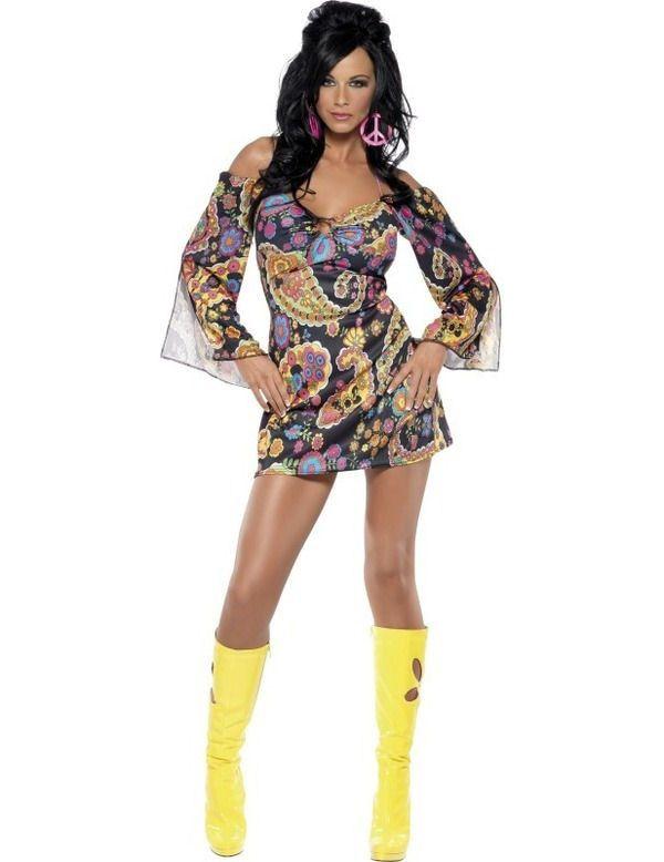 Fever Jaren 60 Hippie Vrouw Kostuum