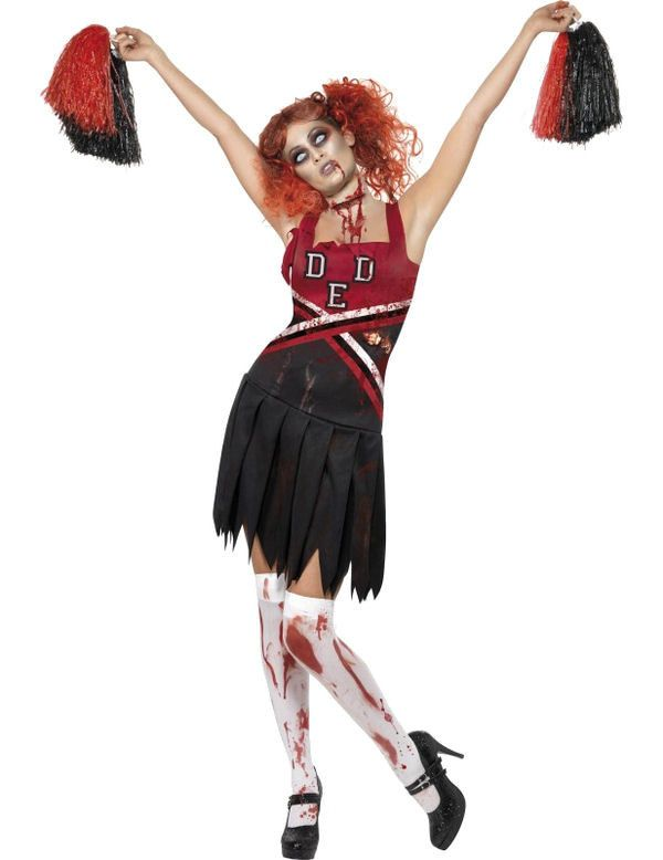 Horror Cheerleader Vrouw Kostuum