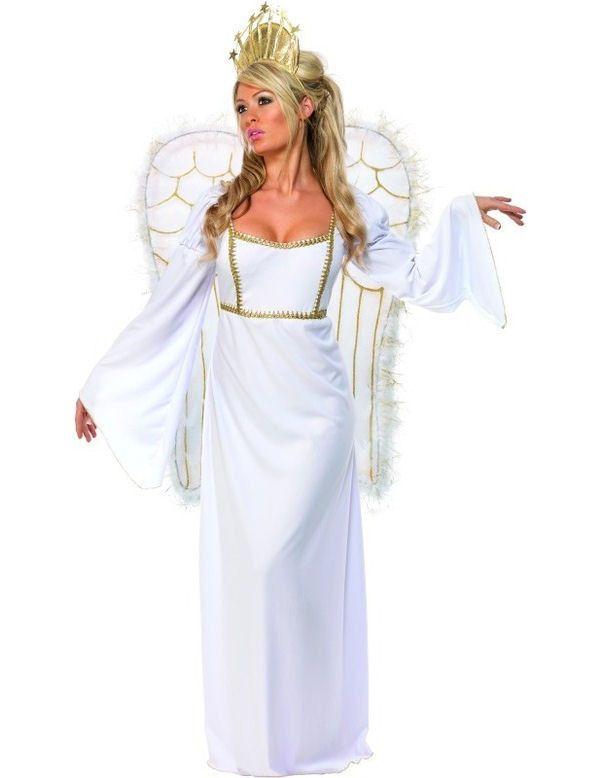 Engel Met Vleugels Vrouw Kostuum