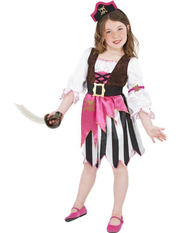 Roze Piraat Meisje Kostuum