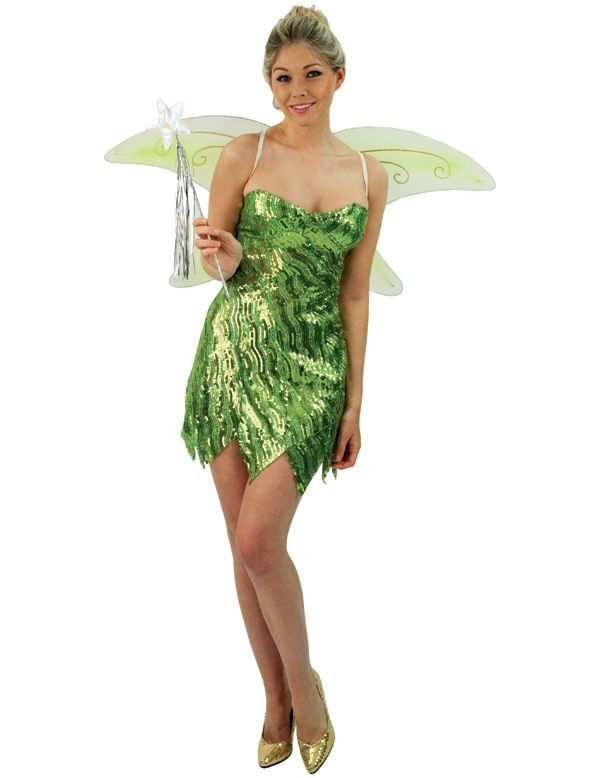 Sprankelende Tinkerbell Vrouw Kostuum