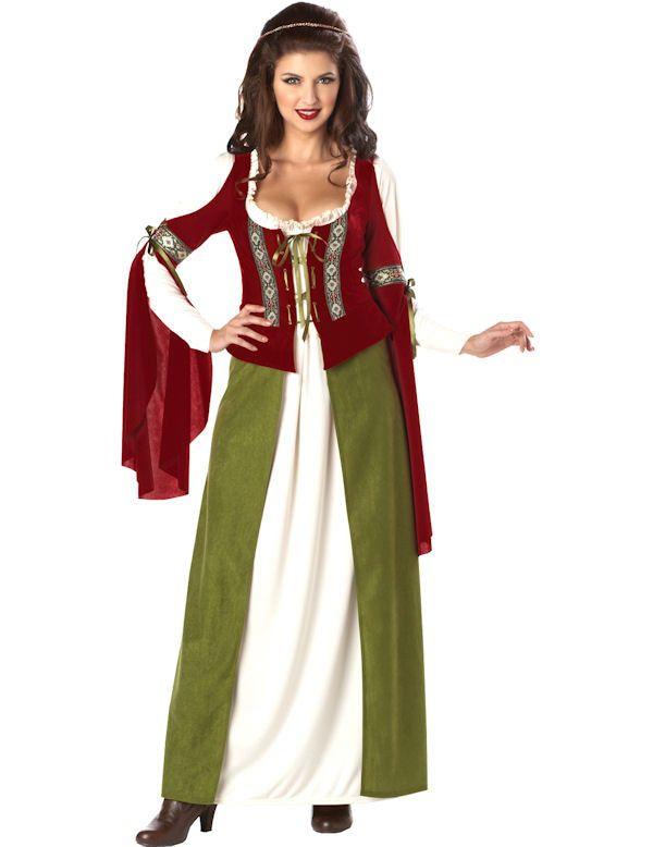 Middeleeuws Lady Marian Vrouw Kostuum