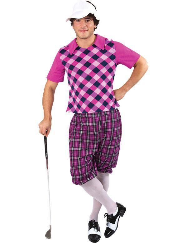 Mannen Golf Man Kostuum