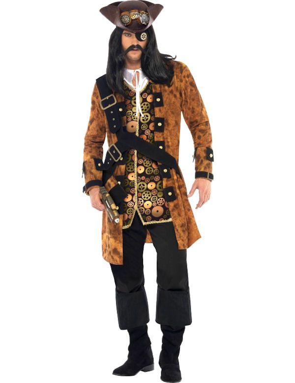 Steampunk Piraten Man Kostuum