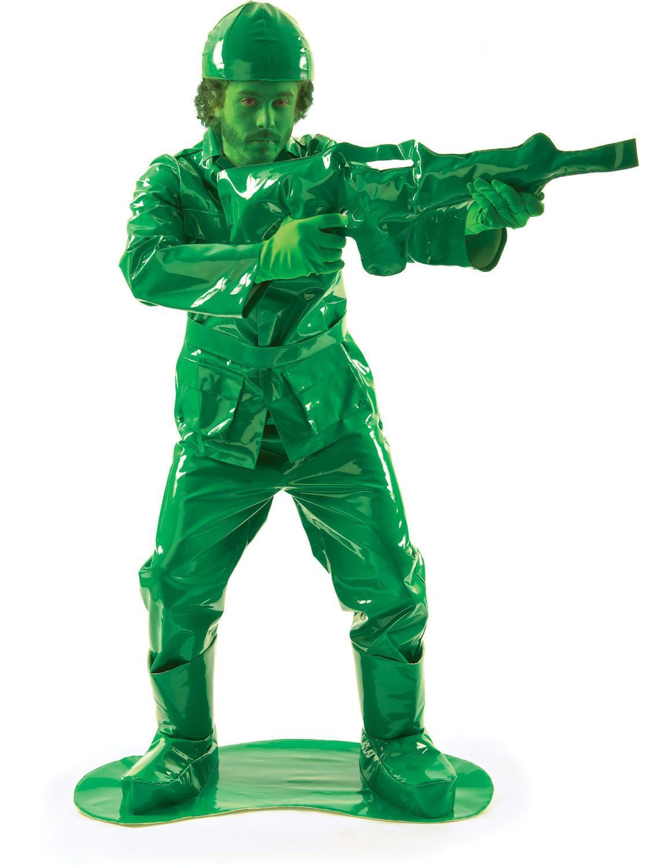Groene Plastic Soldaatje Kostuum Man