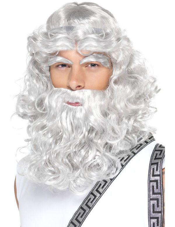 Zeus Pruik Baard & Wenkbrauwen