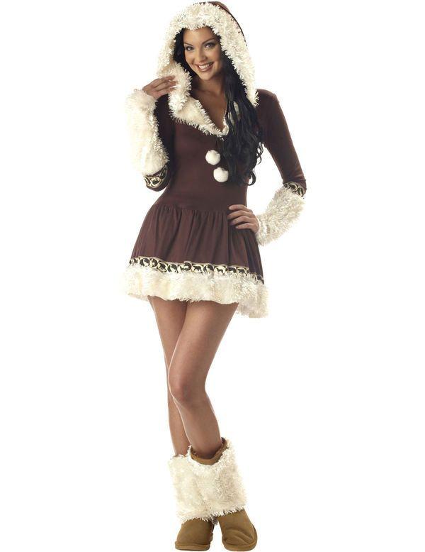 Sexy Eskimo Vrouw Kostuum