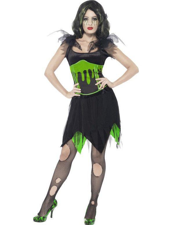Halloween Bruid Kostuum Green Horror Vrouw