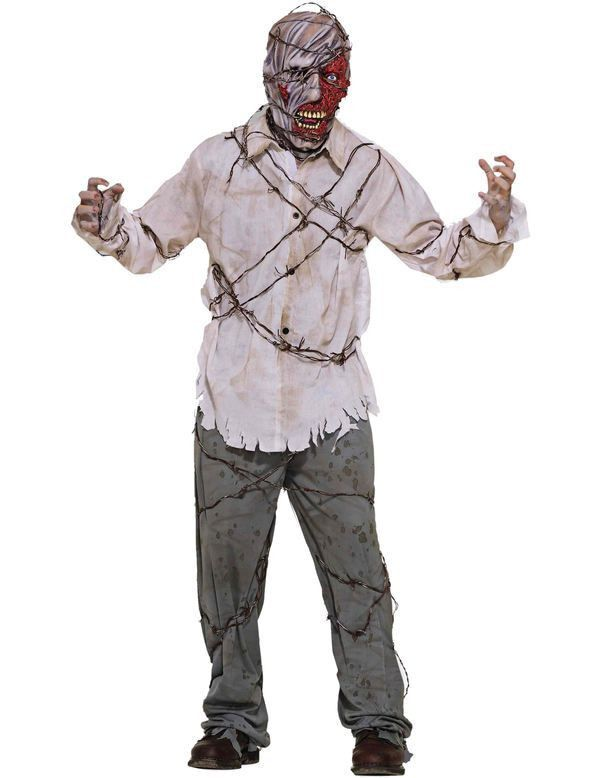 Prikkeldraad Zombie Man Kostuum