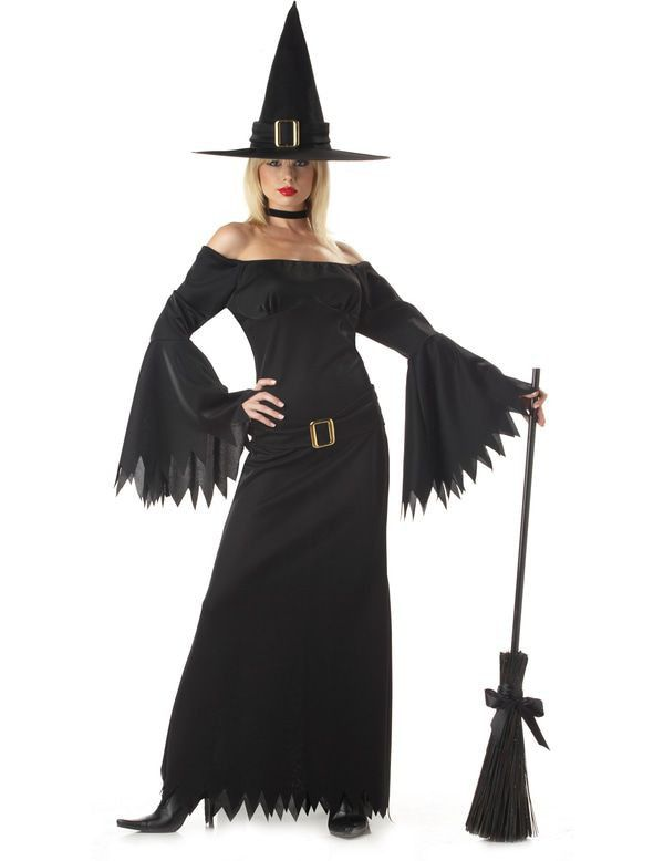 Elegante Heks Vrouw Kostuum