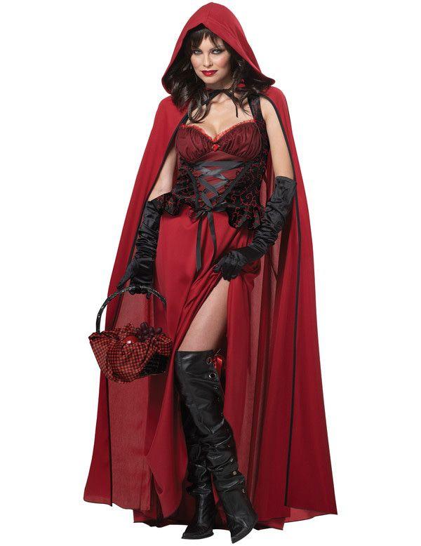 Donkere Roodkapje Vrouw Kostuum