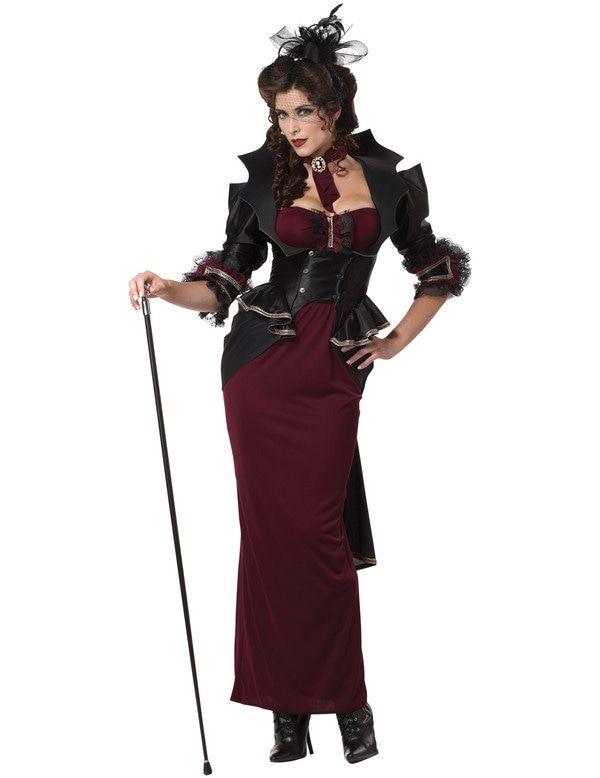 Victoriaanse Halloween Dame Vrouw Kostuum