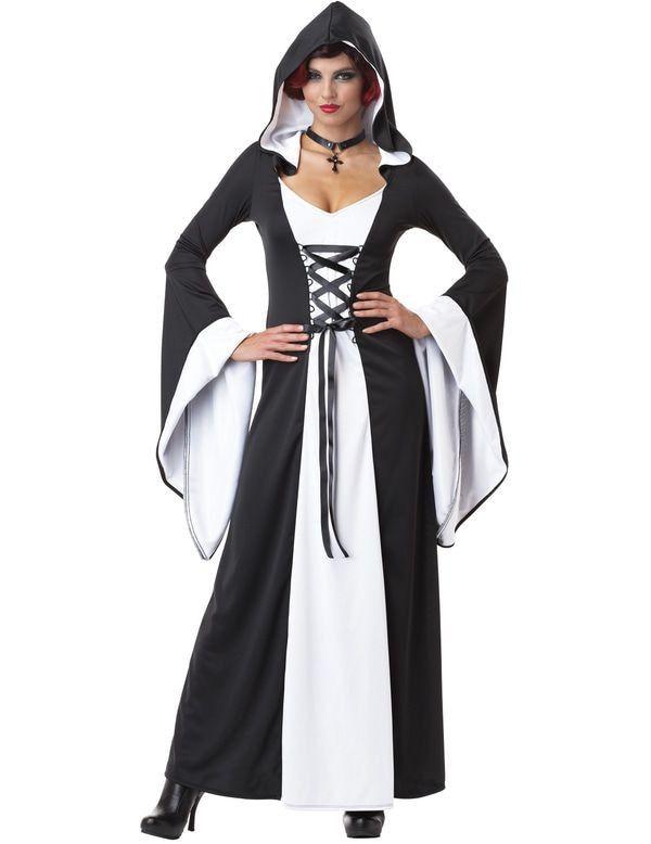 Tovenares Uit De Middeleeuwen Vrouw Kostuum
