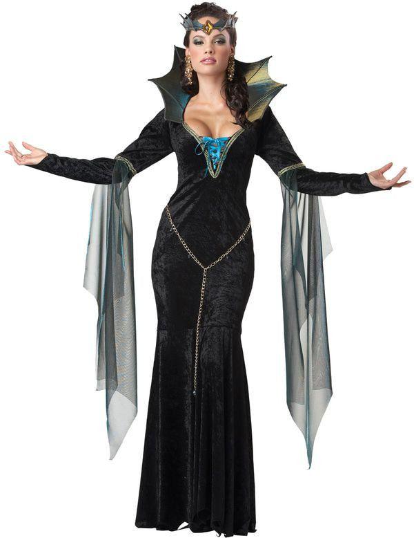Akelige Tovenares Vrouw Kostuum