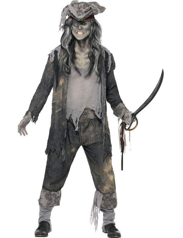 Mannen Zombie Piraat Kostuum Halloween Man