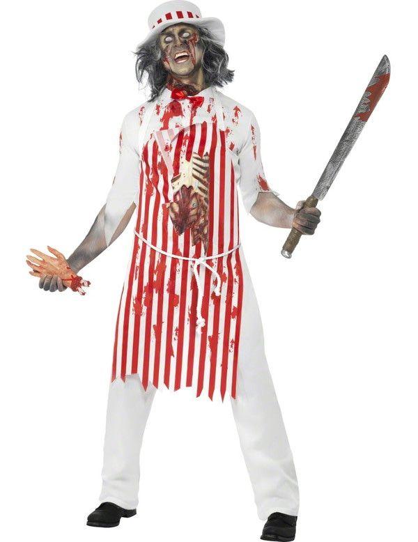 Halloween Horror Slager Man Kostuum