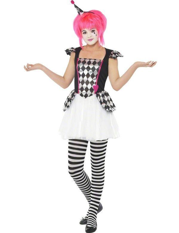 Tiener Schattige Clown Kostuum
