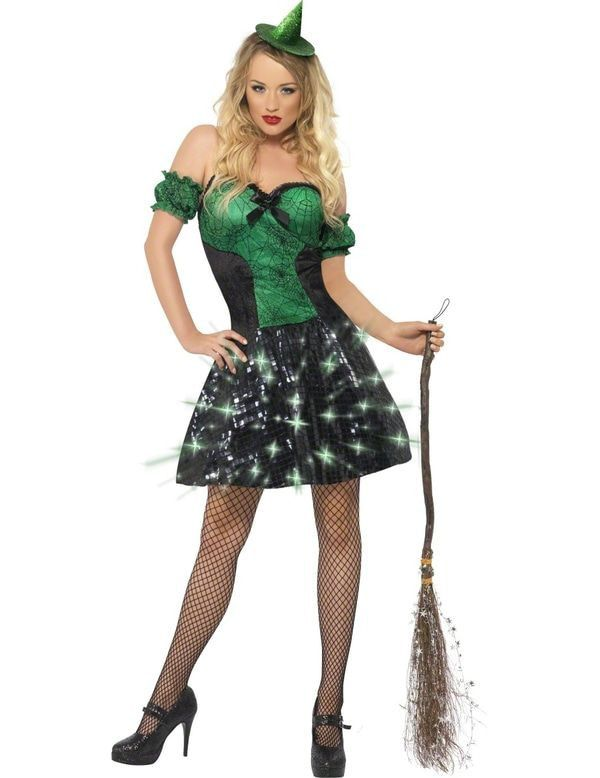 Sexy Verlicht Heksenkostuum Vrouw Kostuum