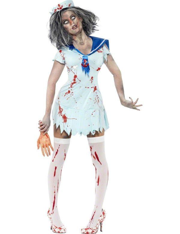 Zombie Matroos Meisje Vrouw Kostuum