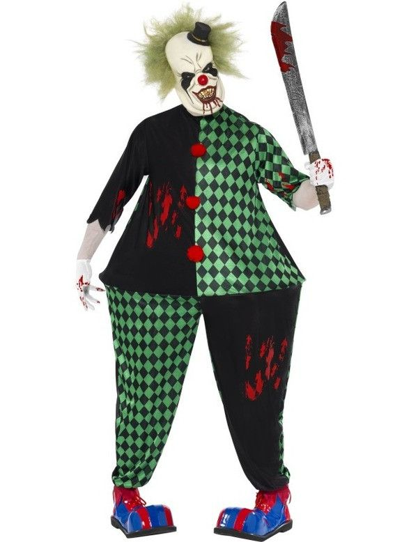 Dikke Clown Halloween Man Kostuum