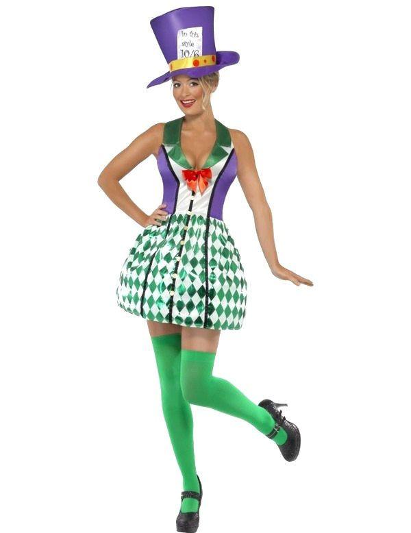 Dame Mad Hatter Vrouw Kostuum