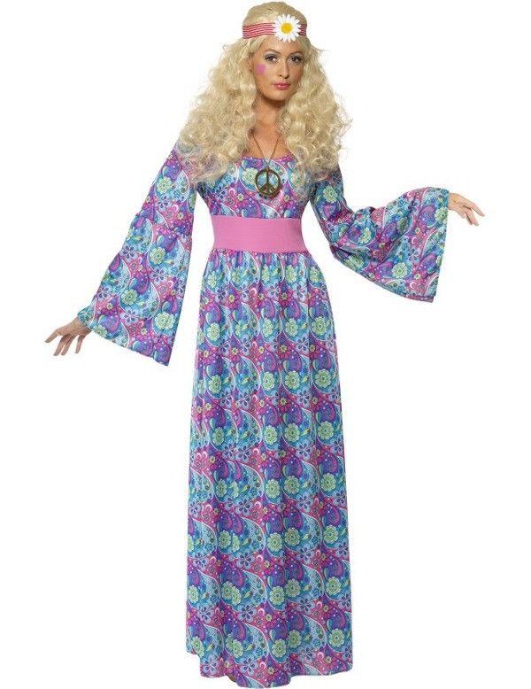Jaren 60 Bloemenkind Vrouw Kostuum