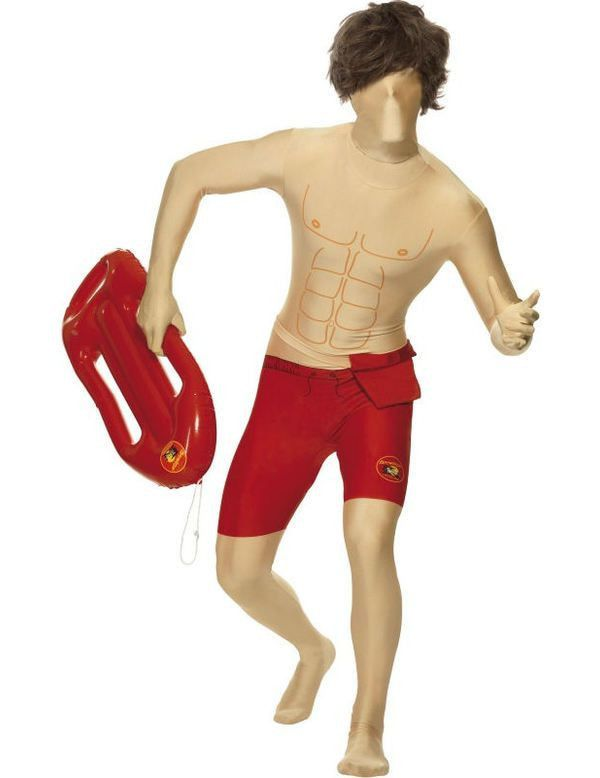 Baywatch Second Skin Man Kostuum