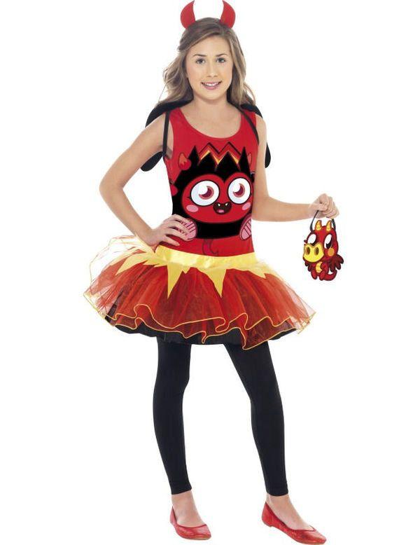 Kind Moshi Monsters Diavlo Kostuum Meisje