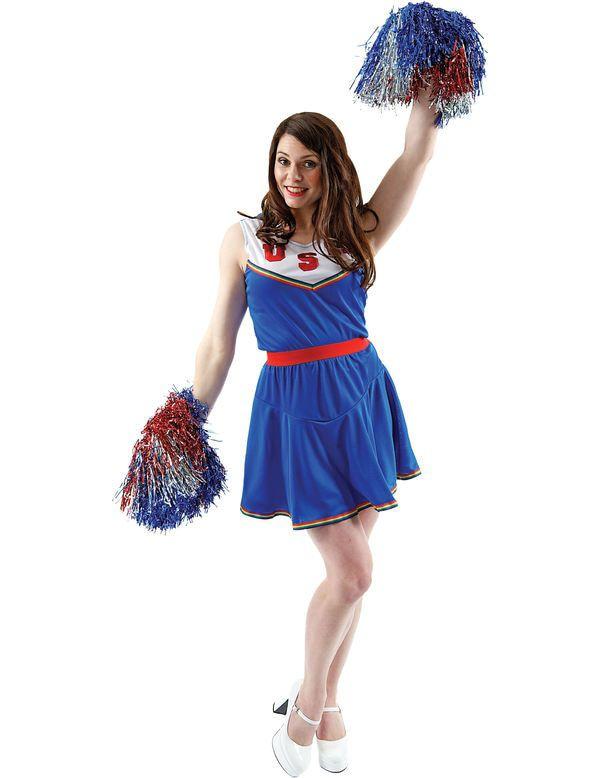 Amerikaanse Cheerleader Vrouw Kostuum