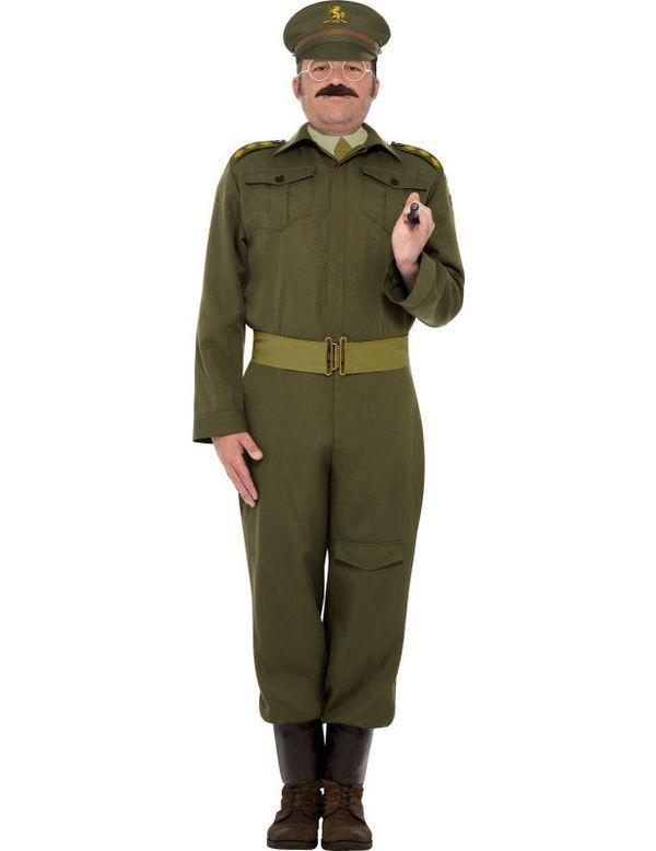 Home Guard Uniform Captain Man Kostuum
