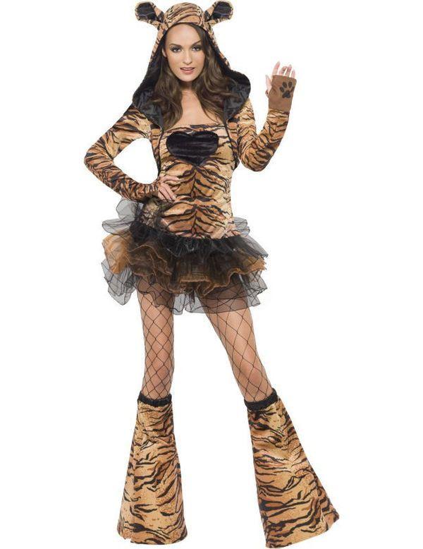 Sexy Tijger Vrouw Kostuum