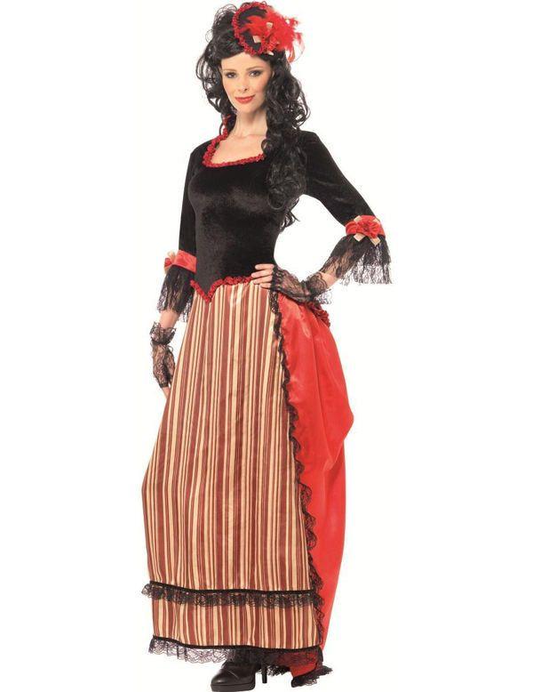 Saloon Dame Vrouw Kostuum
