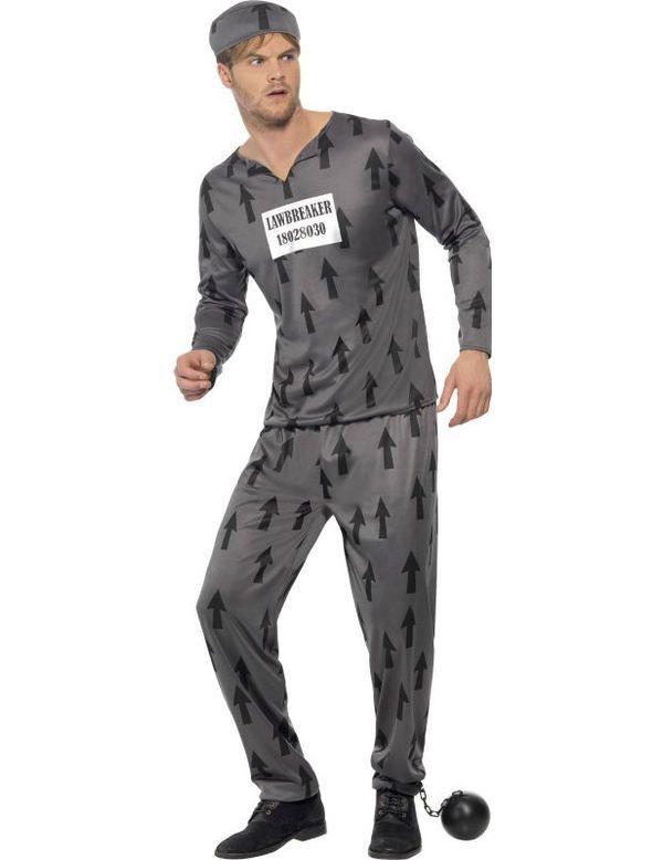 Mannen Gevangene Outfit Man