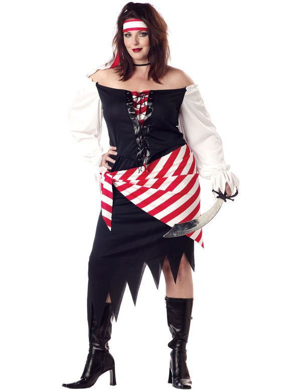 Pirate Kostuum Ruby The Beauty (Grote Maat) Vrouw