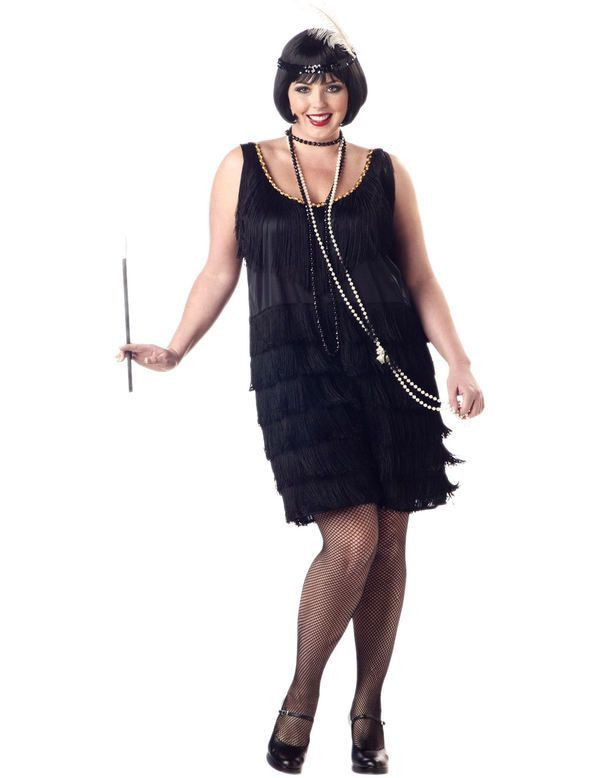 20s Fashion Flapper Jurk (Grote Maat) Vrouw
