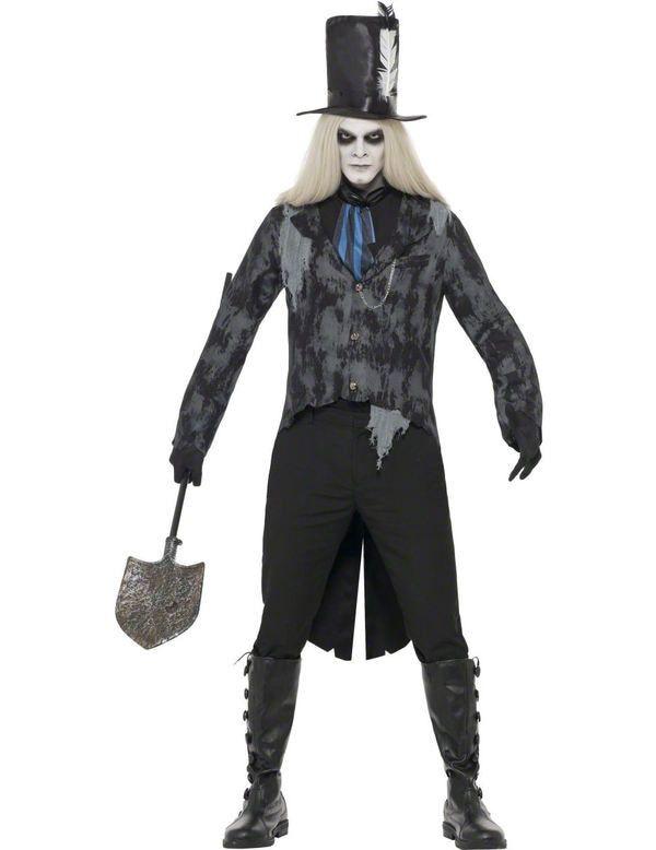Halloween Kostuum Grafgraver Man