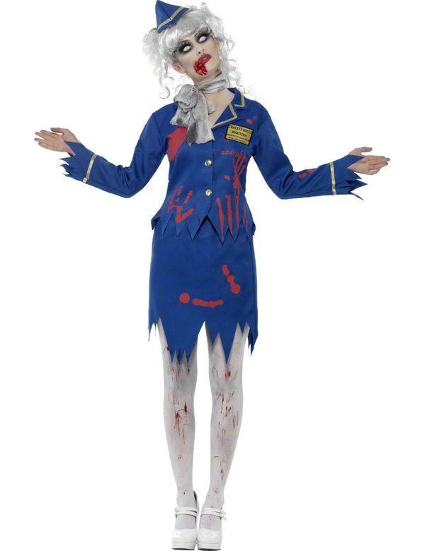 Zombie Stewardess Vrouw Kostuum
